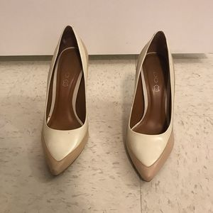 ALDO Neutral Color Blocked Pumps